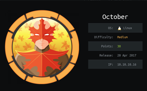Writeup for HacktheBox October