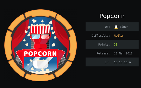 Writeup for HacktheBox Popcorn